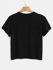Negro Letter T Graphic Dots Shirt M PTIqqC