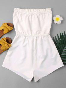 62d0b9551b1d Striped Patched Strapless Romper  Striped Patched Strapless Romper ...