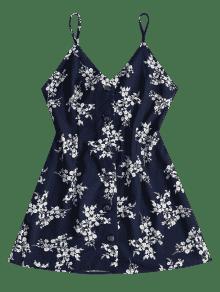 Vestido Camisero De Medianoche Estampado Floral Azul L Con PFOqPrz