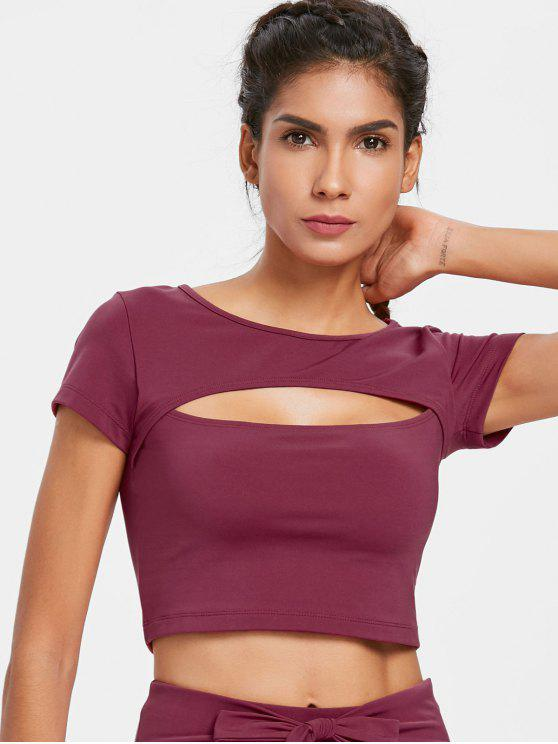 Cut Out Sporty Tee - Rojo Violeta Mediana L