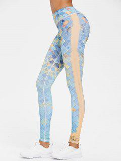 Printed Compression Gym High Waisted Leggings - Multi L