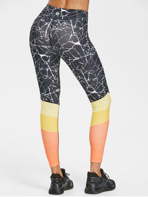 Leggings Deportivos Bloque Color - Negro M Mobile