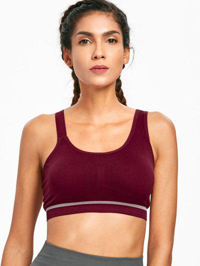 Low Impact Asymmetrical Seamless Sports Bra - Brown