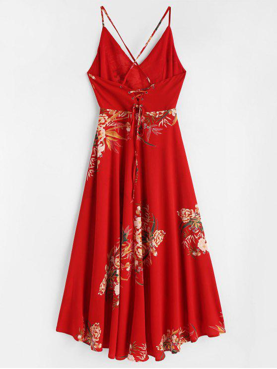 Love Dress Red Lace S High Low Floral up TUISqZIX