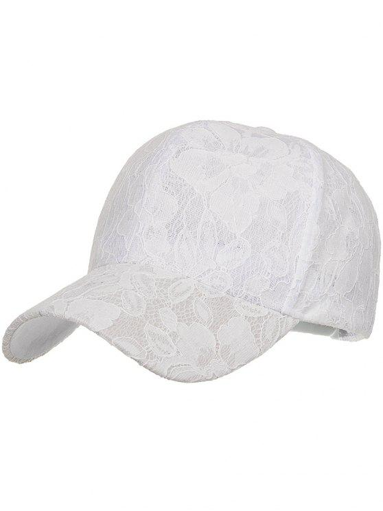 best Floral Lace Decorative Sunscreen Hat - WHITE