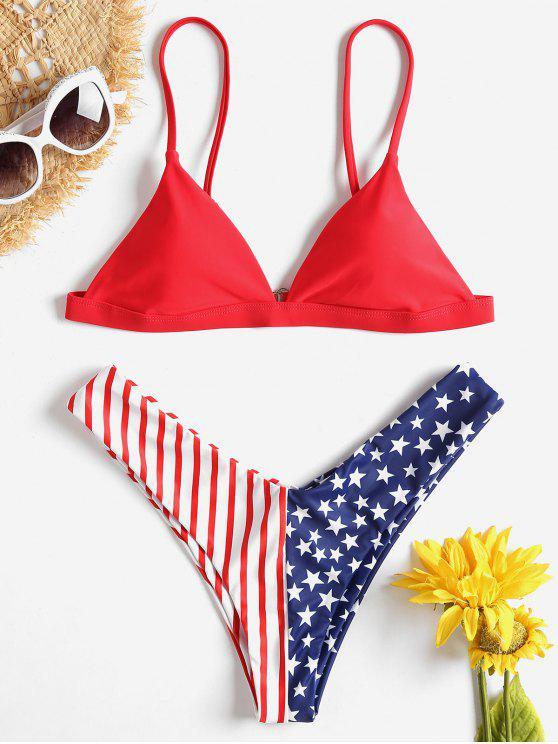 En Amour De Imprimé Ensemble AméricainRouge Bikini Drapeau M ZkXiwOuPT