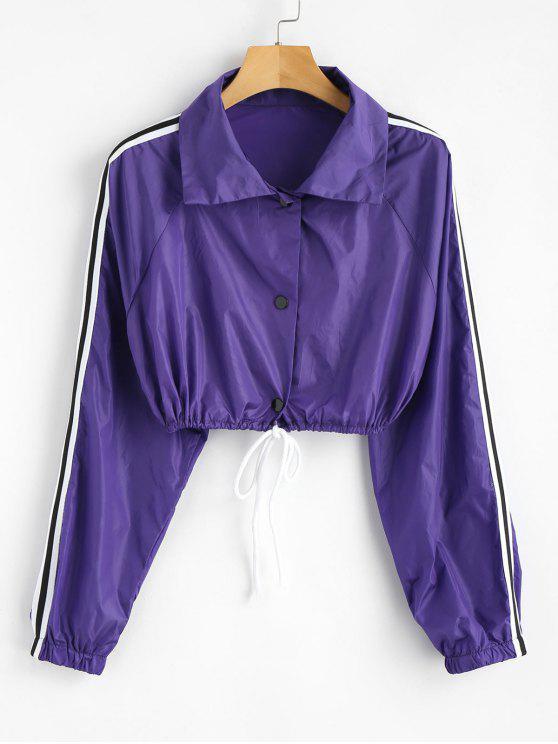 women's Long Sleeve Sun Protective Jacket - PURPLE S