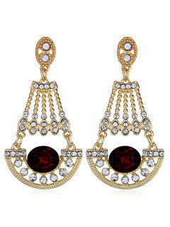 Brillantes Diamantes De Imitación De Diamantes De Imitación Cuelga Los Pendientes - Ladrillo Refractario