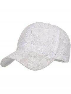 Floral Lace Decorative Sunscreen Hat - White