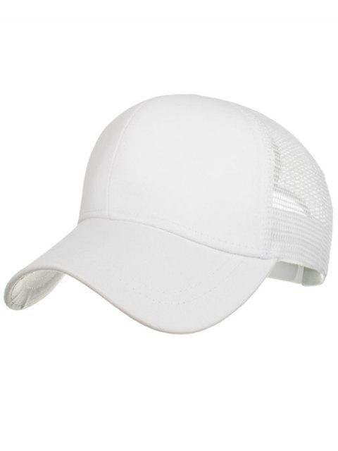 Im Freien hohe Brötchen-Pferdeschwanz-Maschen-Baseballmütze - Weiß  Mobile