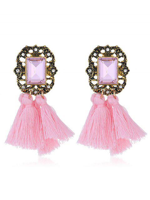 new Statement Handmade Tassel Dangle Drop Earrings - PINK  Mobile