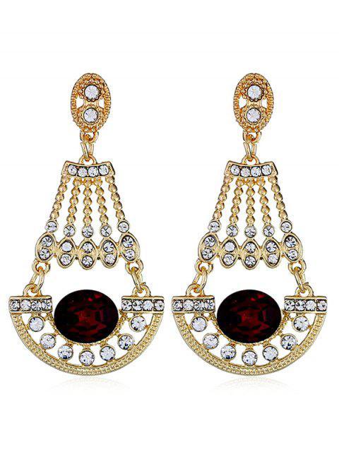 Brillantes diamantes de imitación de diamantes de imitación cuelga los pendientes - Ladrillo Refractario  Mobile