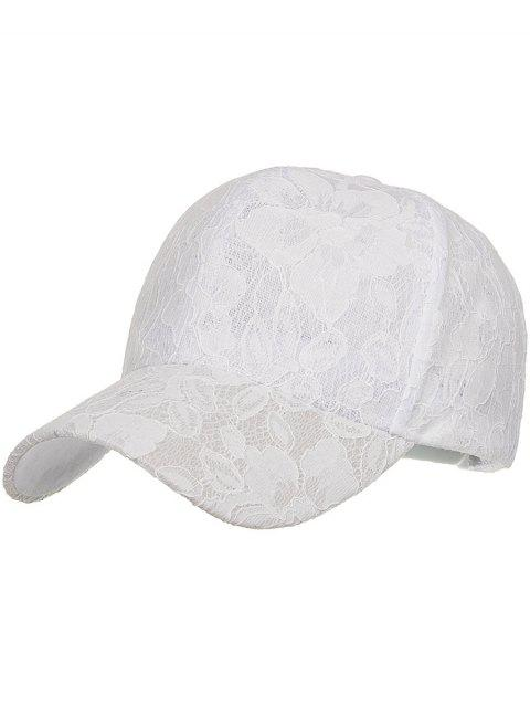 best Floral Lace Decorative Sunscreen Hat - WHITE  Mobile