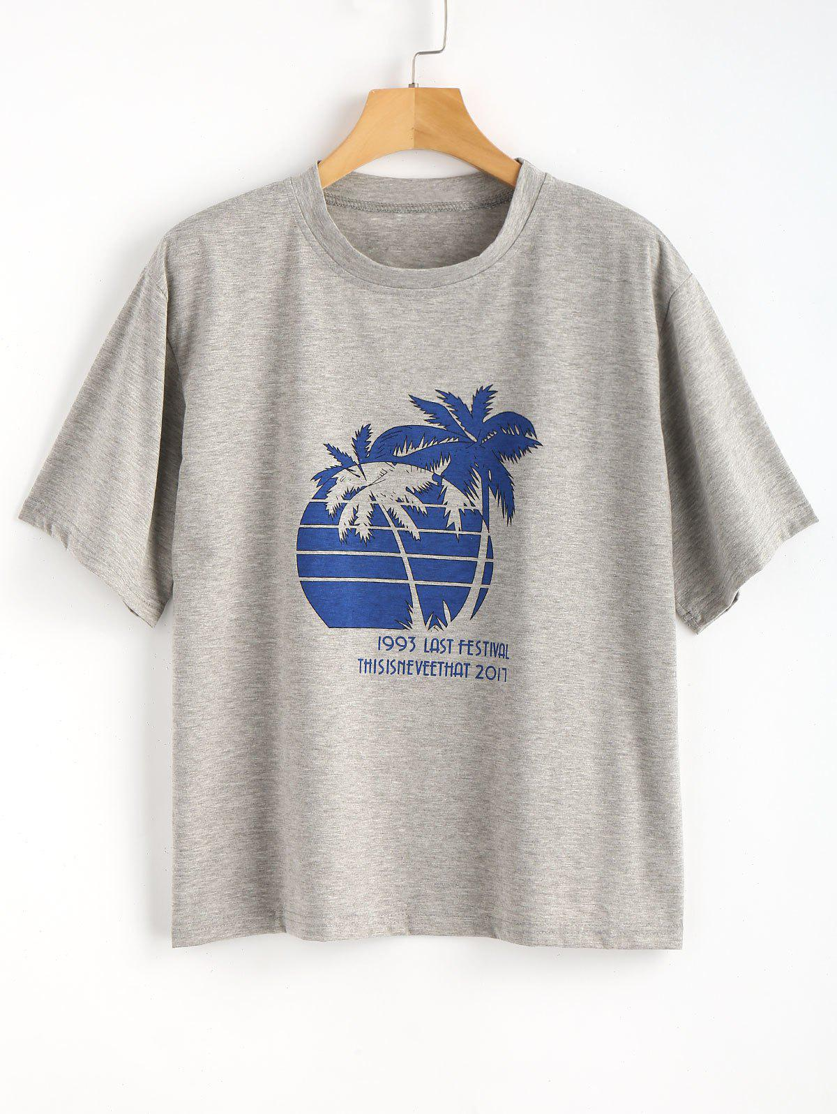 Palm Tree Heathered Ov