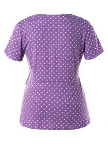 Con P Grande Y Camiseta De Estampado Talla Flor Lunares OCqq4Hxdw
