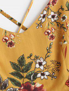Xl Con Maxi Vestido Floral Tiras Mostaza 8nqZ7Yq0xw
