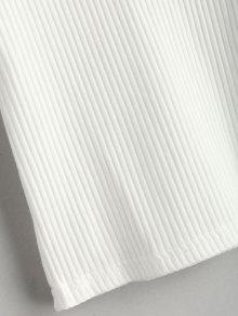 Acanalada De Camiseta Acanalada De Punto Camiseta Blanco Punto Blanco De Punto Acanalada Camiseta qgETSq