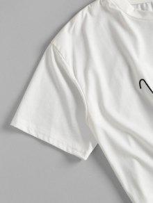 Camiseta 243;n L Coraz Anudado Bordada Blanco PPrqSwExZ