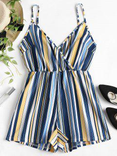 Surplices Stripes Slip Romper - Sun Yellow L