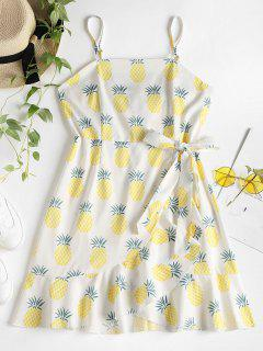 Ruffles Pineapple Cami Dress - White M