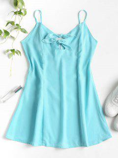 Knots Cut Out Mini Dress - Macaw Blue Green L