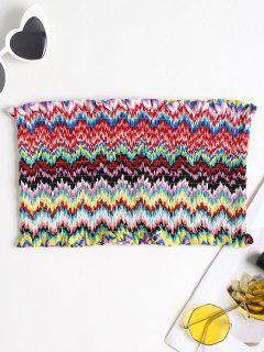 Smocked Zig Zag Bandeau Top - Multi S