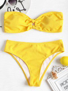 Conjunto De Bikini Palabra De Honor Bowknot - Caucho Ducky Amarillo M