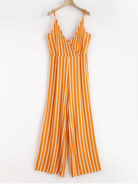 unique Surplice Stripes Cami Jumpsuit - BEER S Mobile