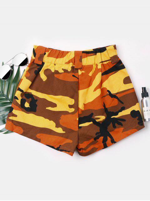 Short Taille Haute  en Camouflage - Jaune d'Abeille S Mobile