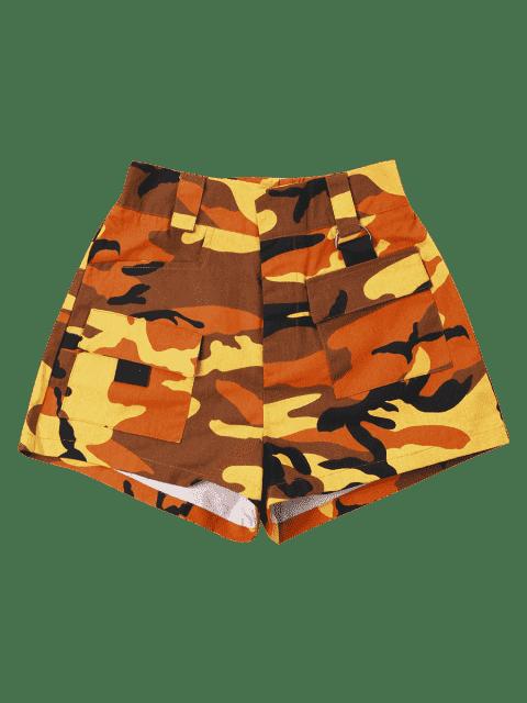 Short Taille Haute  en Camouflage - Jaune d'Abeille L Mobile