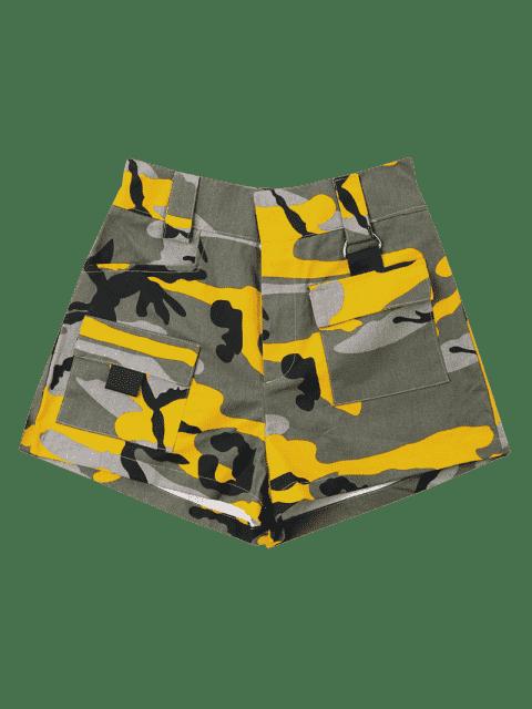 Short Taille Haute  en Camouflage - Vert Camouflage M Mobile