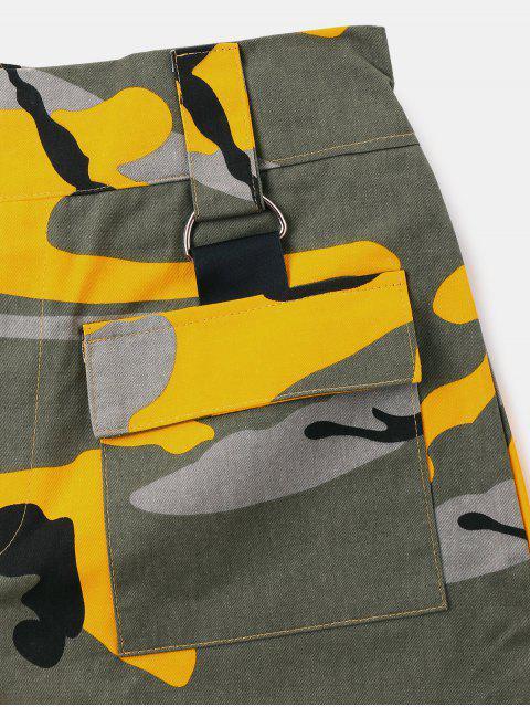 Short Taille Haute  en Camouflage - Vert Camouflage L Mobile
