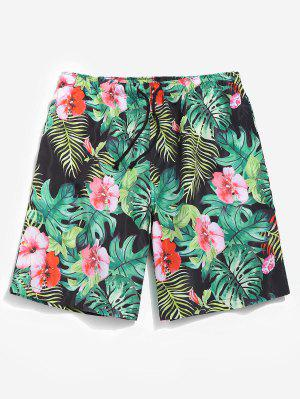 Lässige Dschungel Blumen Shorts