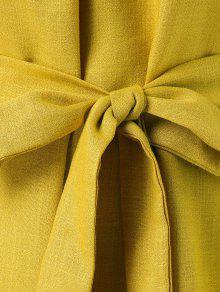 Con Cintur Vestido Y De Amarillo Descubiertos L Sol Hombros 243;n dq5ZwZ