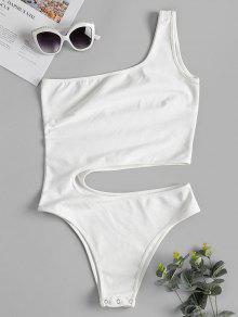 Blanco Con Corte Hombro De M Body dIqOgfOx