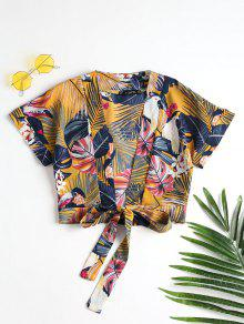 Tie Front Tropical Top