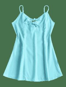 Dress Mini Out M Cut Nudos Azul Guacamayo Verde tx8qzfgxWP