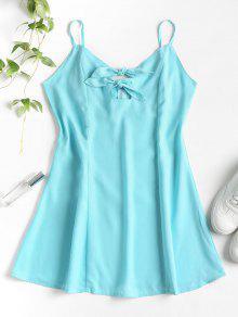 فستان من قطع صغيرة - ماكاو الأزرق الأخضر L