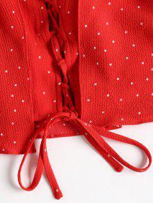 Juego Con Lunares Amo De M A Y Pantalones Lunares Rojo Cortos Conjunto qxgOZR5wx