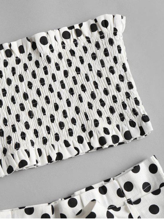 Shorts Set White Polka Dot Smocked M Eq1zB1H