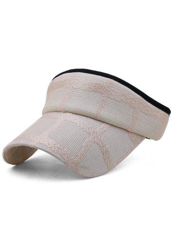 Chapéu de viseira de beisebol superior aberto leve - Rosa Claro