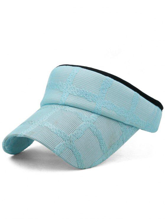 women's Lightweight Open Top Baseball Visors Hat - BLUE LAGOON