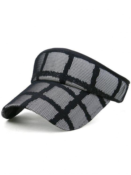 Chapéu de viseira de beisebol superior aberto leve - Preto