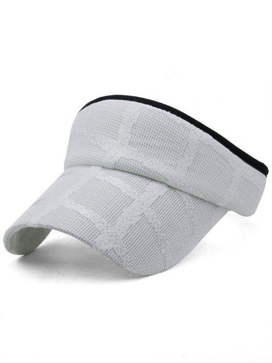 Leichte Open Top Baseball Visiere Hut - Weiß