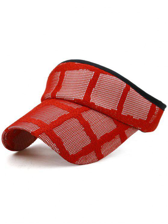 Gorra de visera de béisbol ligera y abierta - Amo Rojo
