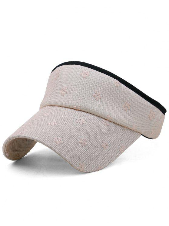 Flourishing Floral Open Top Sunscreen Hat - Rosa Claro