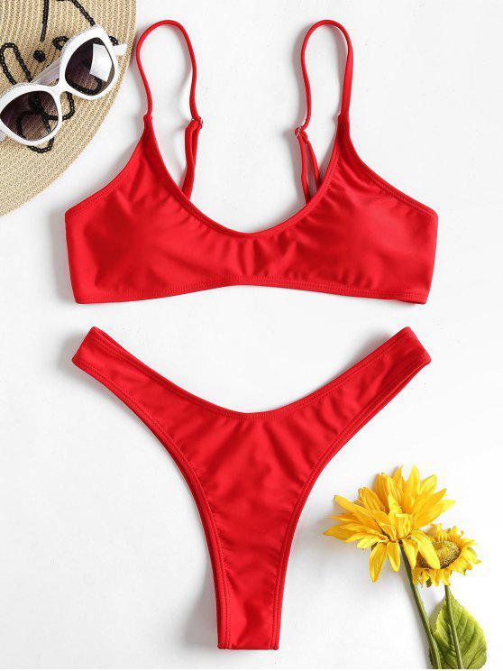 Bikini Con Perizoma A Gamba Alta - Rosso L
