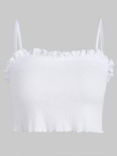 Ruffles Cami Top - Blanco S