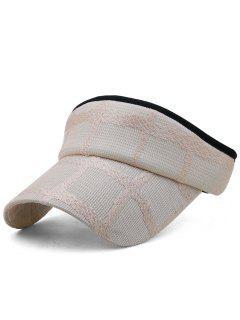 Lightweight Open Top Baseball Visors Hat - Light Pink