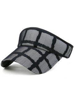 Lightweight Open Top Baseball Visors Hat - Black